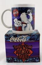 """Coca-Cola Coffee Mug Cup Polar Bears """"Really Cool Mom"""" 1999 Vintage w/ Gift Box - $9.49"""