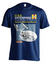 Star Trek Haynes Enterprise Manual Official Tee T-Shirt Mens Unisex - $22.99