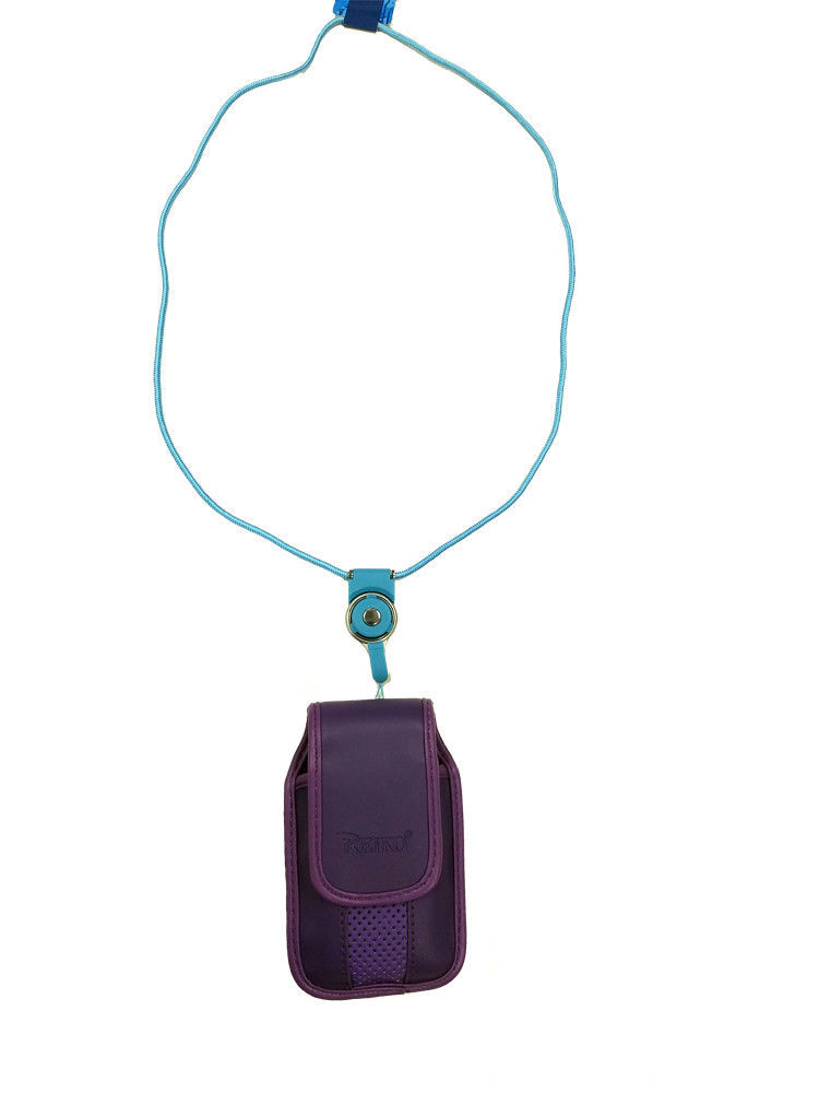 Around the neck purple hanging case and lanyard fits LG 441g