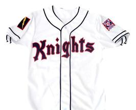 Roy Hobbs #9 New York Knights Button Down New Men Baseball Jersey White Any Size image 4
