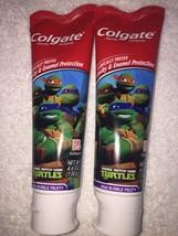 Lot Of 2 Colgate Teenage Mutant Ninja Turtles Mild Bubble Fruit Toothpaste 4.6oz - $30.00