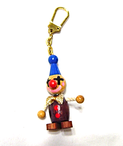 a74bcb590ff Vintage Wooden Clown Toy Figurine Key Chain and 50 similar items
