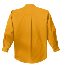 Port Authority Men's Long Sleeve Athletic Gold Easy Care Button Down - M image 2