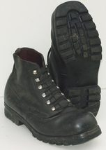 Swiss army Alpine Mountain boots Black leather ankle combat assault military - $20.00