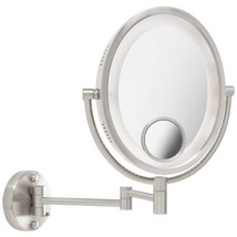 Jerdon HL9515N 8-Inch Lighted Wall Mount Oval Makeup Mirror with 10x and... - $94.99