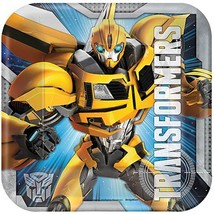 Transformers 4 Core Dessert Plates 8 Per Package Birthday Party Supplies Amscan - $3.94
