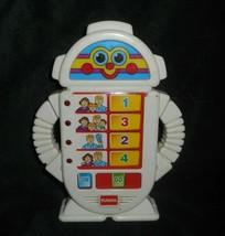 1996 HAND HELD ALPHIE TALKING PLAYSKOOL ROBOT HASBRO LIGHTS UP WORKS TAL... - $36.47