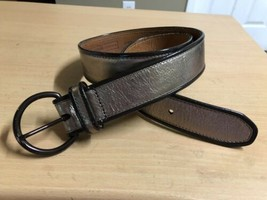 FOSSIL Leather belt Bronze Melallic style 104989 sz MED - £11.55 GBP