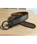 FOSSIL Leather belt Bronze Melallic style 104989 sz MED - $14.90