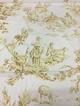 Spectrum Multi-Purpose Fabric Gold Pastoral Toile 1.875 yds - $35.63