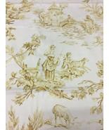Spectrum Multi-Purpose Fabric Gold Pastoral Toile 1.875 yds - $35.63