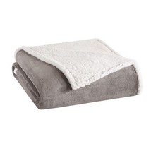 Luxury Grey & Ivory Reversible Berber Plush Blanket - ALL SIZES - $66.49+