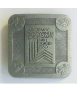 Vintage XIII Winter Olympics Lake Placid NY Metal Belt Buckle - $9.41