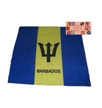 BARBADOS FLAG BANDANA Cotton Scarves Scarf Head Hair Neck Band Skull Wra... - $5.85