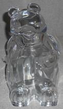 24% PbO Czech Republic GLASS BEAR BANK Nice Size and Design - $23.75