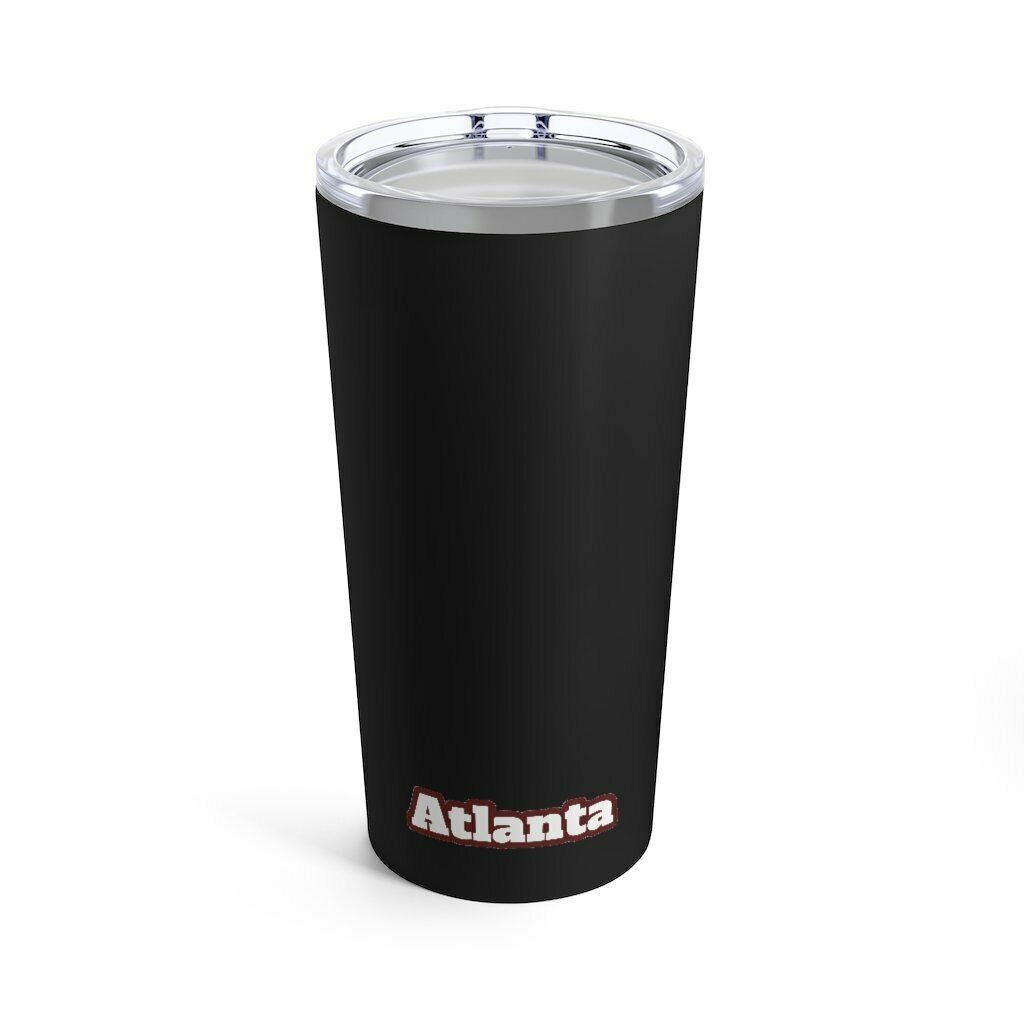 Primary image for Atlanta Vacuum Insulated Stainless Steel Tumbler 20 Ounce Black Glossy with Lid