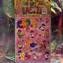 Vintage Lisa Frank Easter Sticker Sheets (2) Sealed In Original Package RARE HTF