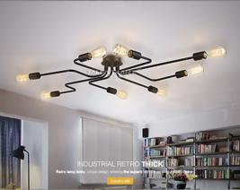 Industrial Metal Spider Flush Mount E27 Light Ceiling Lamp Home Lighting Fixture - $203.00