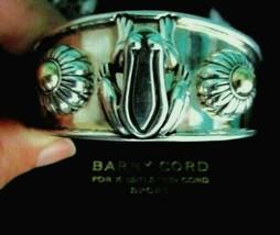 Barry Kieselstein Cord Frog & Flowers Cuff Bracelet Sterling & 14K Gold ... - $449.95