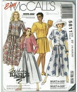 McCalls Sewing Pattern 5811 Misses Two Piece Dress Size 16 18 20 22 - $9.74