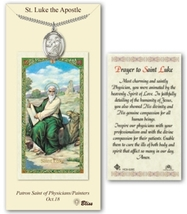St Luke the Apostle - Pewter Medal with Chain and Prayer Card