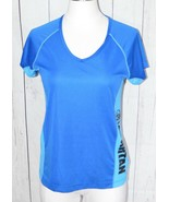Spartan Race Short Sleeve Blue Sports Activewear Top Small - $39.59