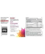 GNC Women's Iron Complete High-Potency Formula 30mg of Iron 60 Caplets -... - $11.77