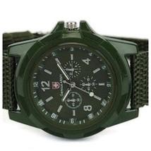 Mens Watch Stainless Steel Sports Army Analog Quartz Wrist Watch A14