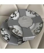 Ciroa Luxe Silver Metallic Scroll Swirl Appetizer Plates Set 8 ~NEW ~ - $79.99