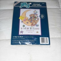 Dimensions Jiffy Counted Cross Stitch Kit #16625 A STAR IS BORN Birth~~NIP! - $5.99