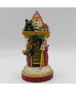 Pam Schifferl Old World Santa Holding Tray Toys Bear Stick Horse Folk Ar... - $63.23