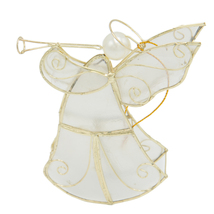 Christmas Angel Ornaments set of two (2) -Handmade from Capiz Shell - $15.00