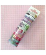 Washi Tape Tube Set - Unicorn Ice Cream Rainbow Pink - $28.84