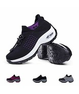 Women's Walking Shoes Sock Sneakers - Comfort Mesh Slip On Air Cushion L... - $32.36