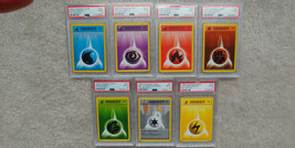 Pokemon 1st Edition Base Set PSA 9 Energy Complete Set of 7 1999 Game Sh... - $199.99