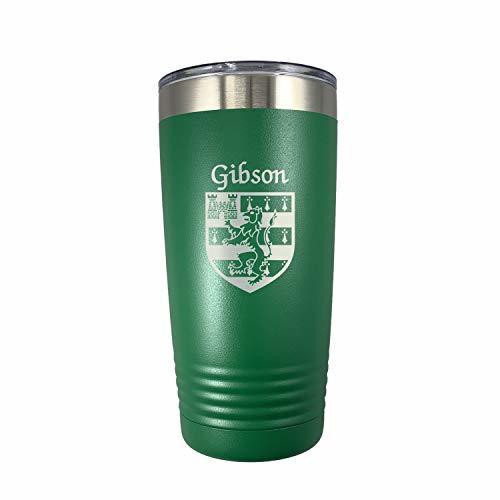 Gibson Irish Coat of Arms Stainless Steel Green Travel Tumbler - $27.43