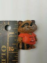 Hallmark Holiday Halloween Pin Raccoon Trick or Treat Shirt orange image 3