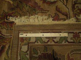 Densely Knotted Genuine Handmade 9 x 13 Brown Jaipur Wool Rug image 8