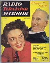 ORIGINAL Vintage April 1951 Radio TV Mirror Magazine Jimmy Durante Fran ... - $18.51