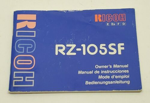 Primary image for Ricoh Camera RZ-105SF Owners Instruction Manual Booklet Book