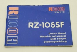 Ricoh Camera RZ-105SF Owners Instruction Manual Booklet Book - $9.74