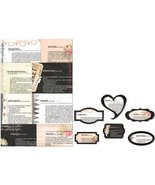 "Lyric Newsprint Decorative Frames 6/Pkg-Assorted Sizes Approximately 2"" - $9.89"