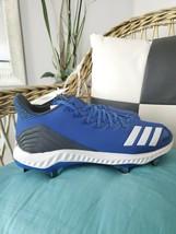 Adidas icon bounce Men's baseball cleats metal spike size 11.5 royal blue cg5243 - $30.00