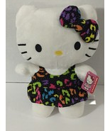 "Hello Kitty Plush Fiesta Doll Stuff Animal W/ Tag 12"" Long 9"" Wide - $8.99"