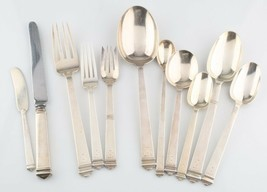 Tiffany & Co. 63 Piece Set of Sterling Silver Hampton Flatware Silverwar... - $6,905.13