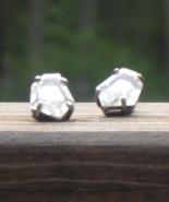 Vintage Rhinestone Nugget Post Earrings - $75.00