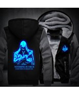 Men Women Assassin's Creed Luminous Jacket Sweatshirts Thicken Zipper Ho... - $59.16