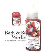 Bath and Body Works Strawberry Vanilla Sugar Hand Soap & PocketBac Retir... - $20.22