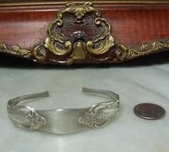 Art Deco Vintage Sterling Silver Ornate Spoon Cuff Bracelet by Oneida  - $42.54