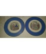 Century/ Salem Godey Prints Service Plate/Charger/Wall Hanging Blue Rim ... - $12.86